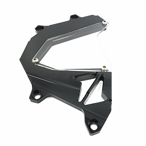 XX eCommerce Motorcycle Motorbike Billet Aluminum Front Chain Sprocket Engine Cover For 2012-2014 Kawasaki Z800 2013 12 13 14 (Black)