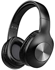 Bluetooth Headphones, Letscom Wireless Headphones Over Ear with Hi-Fi Sound Mic Deep Bass, 100 Hours Playtime and Soft Memory Protein Earpads for Travel Work TV PC Cellphone