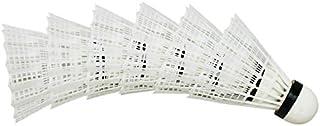 TOOGOO(R) 6pcs Sport Badminton en plastique doux volant de haute qualite Blanc SHOMAGT27600