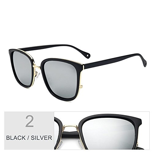 Gafas TR90 de UV400 para Gafas Piazza Black de sol polarizadas lentes mujeres Silver sol estilo Gris de Sunglasses TL femenina gafas sol popular Gris qSpx5UEww