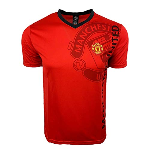 Manchester United T-Shirt, Official Manchester U. Football Soccer T-Shirt Jerseys Red (Medium)