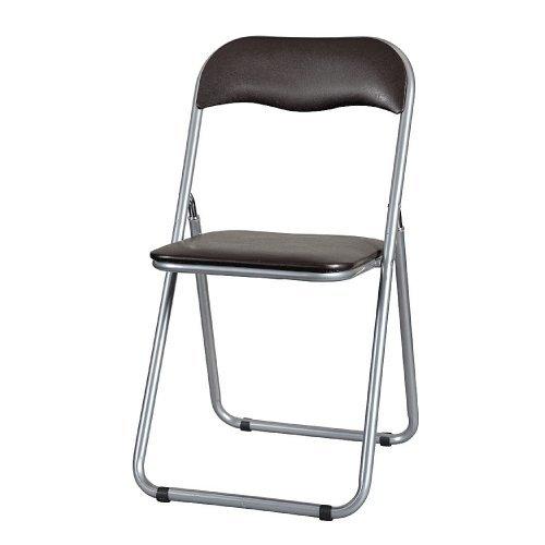 折りたたみ椅子スライド式フレーム 《選べる2色》 ブラウン YH-31N-BR 4脚セット B009CSZ4E8