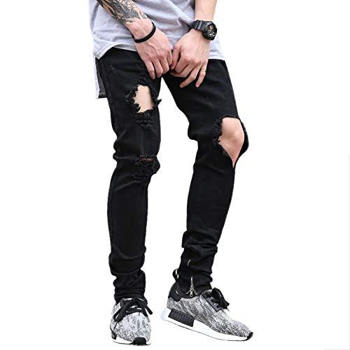 de Pantalones Estiramiento Marca los Delgados de de Negro la la de Vaqueros Hombres Marea Pantalones los lápiz XWH nwFqUS4xWq