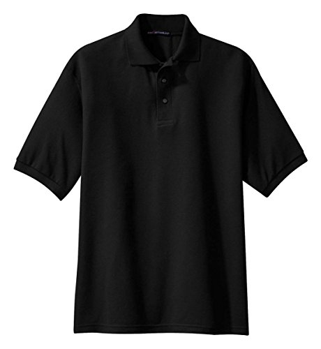 Authority Port Knit Shirt (Port Authority K500 Silk Touch Polo - Black - X-Large)