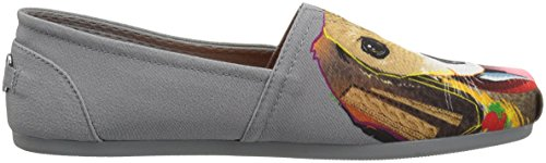 Breeds Beagle Women's Flat Bobs Skechers Bud Plush Ballet from Charcoal BOBS nxwzzPXB1