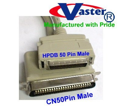 SuperEcable - 20355- 10 FT - SCSI Cable - SCSI - 1 to SCSI - 2 CN50M to HPD50M Cable VasterCable