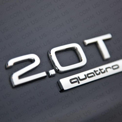 us85/OEM ABS placa Audi 2.0T cromo emblema 3d Logo de tronco insignia Decoraci/ón