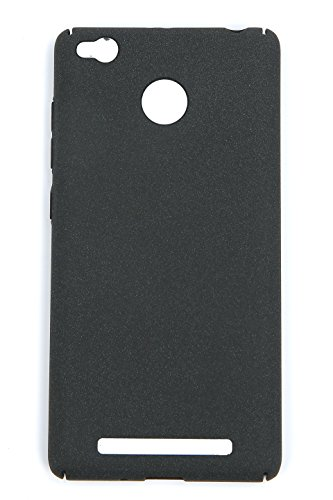 Tapfond-TM-All-Sides-Protection-360-Degree-Sleek-Quicksand-Matte-Hard-Back-Case-Cover-For-XIAOMI-MI-REDMI-3S-PRIME-Sandstone-Black