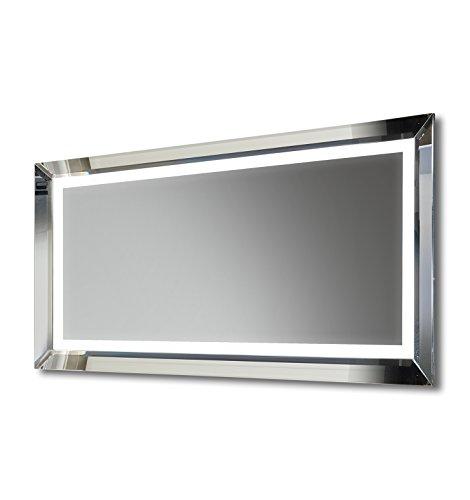 DIAMOND X COLLECTION Gradien Illuminated LED Bathroom Mirror with Sensor,Shaver,Demister Pad -