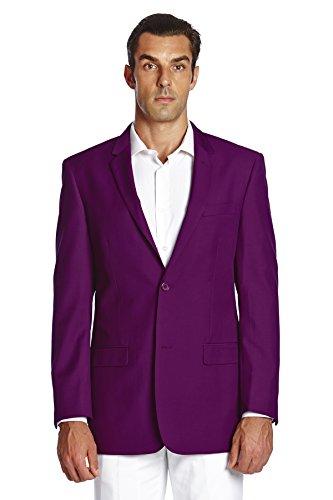 Cheap CONCITOR Men's Suit Jacket Separate Blazer Coat Solid EGGPLANT PURPLE Two Button