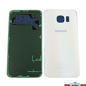 Corte Parte trasera adhesiva repuesto cristal para Samsung Galaxy S6(blanco)