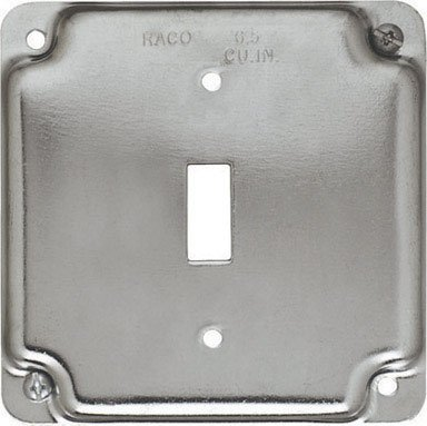 Hubbell 800 HBL800 Square Toggle Switch Cover 4