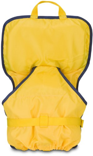 MTI Adventurewear Infant PFD Life Jacket with Collar (Yellow/Navy, Infant Size/0-30-Pound)