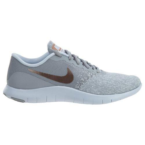 NIKE Womens Flex Contact Wolf/Grey/Mtlc/Rose/Gold Running Shoe 8.5 Women US
