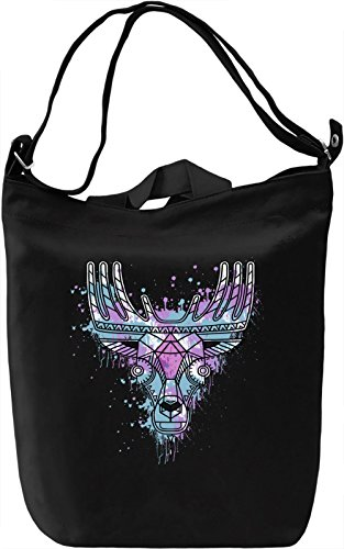 Ethnic Deer Borsa Giornaliera Canvas Canvas Day Bag| 100% Premium Cotton Canvas| DTG Printing|