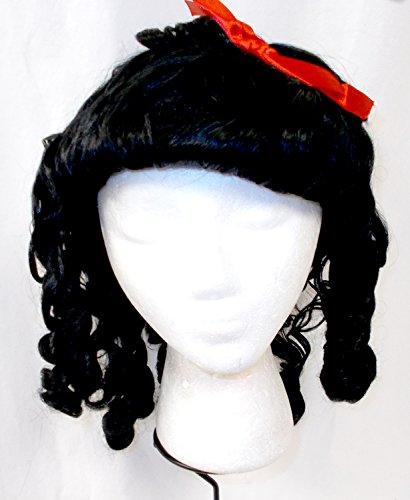 (PMG Halloween Black Baby Doll Costume Wig OSFM 16in)