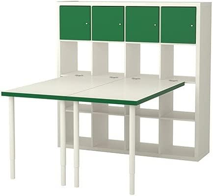 IKEA estación de trabajo de madera, blanco/verde 6386.8112.1218 ...