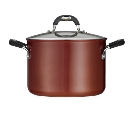 Tramontina 80110 051DS Style Ceramica 01 Covered Stock Pot, 6-Quart, Metallic Copper