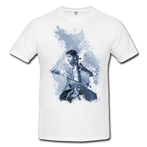 Chello Spieler I Herren T- Shirt , Stylisch aus Paul Sinus Aquarell Cyan