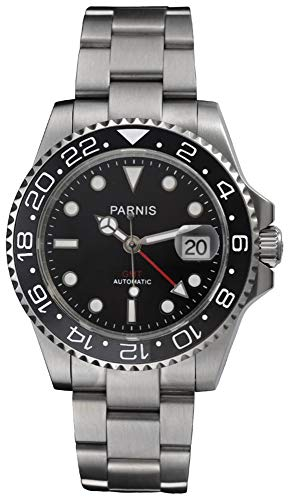 Fanmis Ceramic Bezel GMT-Master Ii Black Dial Automatic Mechanical Ladies Men