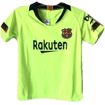 影層プラグ?ネーム作成?子供用 K134 バルセロナ 黄色 19 ゲームシャツ パンツ付