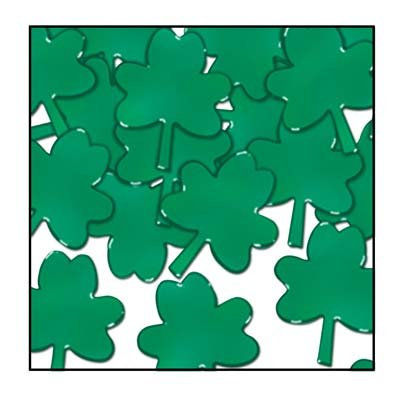 Shamrock Table Decorations (Fanci-Fetti Shamrocks (green) Party Accessory (Value)