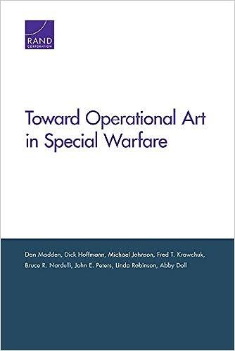 Book Toward Operational Art in Special Warfare