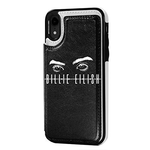 Billie Eilish Leather Card Slot Phone Case, Shock Absorption, for iPhone XR