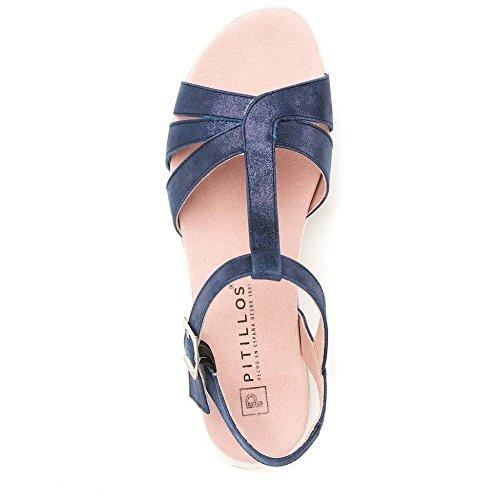 2523 Sandalia Pitillos Azul Pitillos 2523 Mujer tqEPHtx