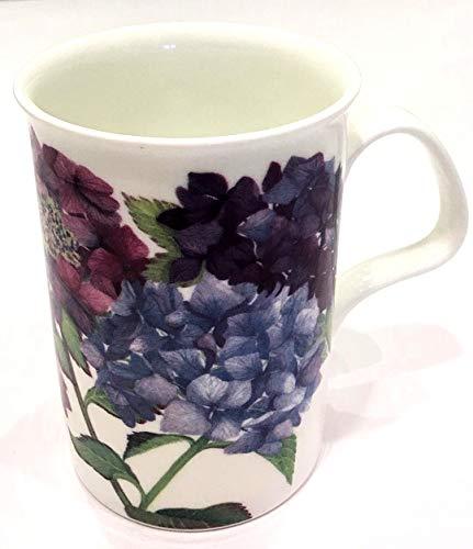 Roy Kirkham England Fine Bone China HYDRANGEA BLOSSOMS Mug for Tea Coffee or Latte | Lancaster | Dated 2012