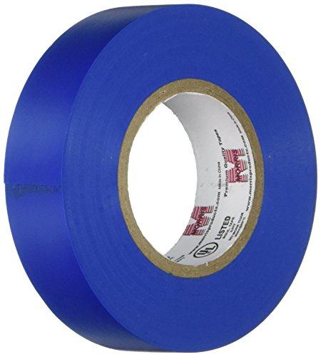 Blue Plastic Tape - Morris 60050 Blue Vinyl Plastic Electrical Tape, 7 mil, PVC, 60' Length, 3/4