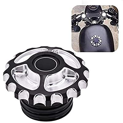 TUINCYN Motorcycle Fuel Tank Cap CNC Aluminum Rough Crafts Gas Cap Oil Cover for Harley Davidson Dyna Softail FXD FL XL FLT Touring Road King Sportster XL 1200 883 X 48(1 pcs): Automotive