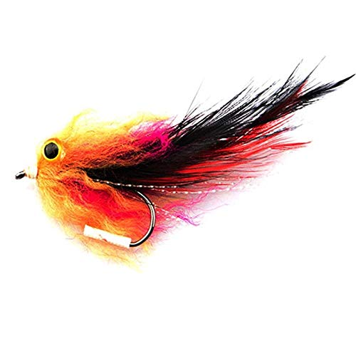Zizu store - 1pcs/bag New Trout Steelhead Salmon Pike Streamer Fly for Fly Fishing Flies Size 4# Hook