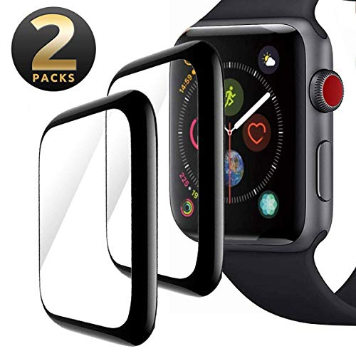 Apple Watch Screen Protector 42mm, [2 - Pack] Tempered Glass Screen Protector, Anti-Scratch Resistant Full Coverage Scratch-Proof Screen Film Compatible Watch 42mm Series 1/2/3