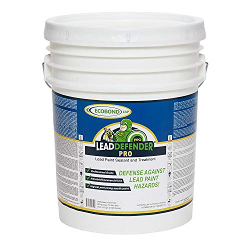ECOBOND Lead Defender Pro 5-Gal Lead Based Paint Treatment and Sealant-All Orders Receive Our Lead Paint Treatment Industry Awareness Webclass and Multi-media Mixing and Application Tutorial (Lead Based Paint)