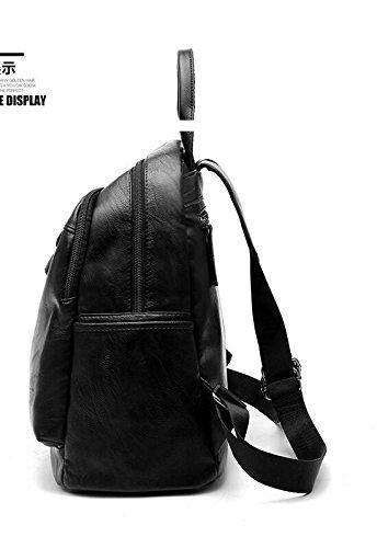 Ms Korean Leather Bolsa Simple Meaeo Oxford The bb Cuero Package Sra Todos Backpack match Simple De Mrs Nueva Moda match La Meaeo La Mochila Coreana New Fashion Bb Bag Cloth All Tela Sra Paquete Oxford AqppxE