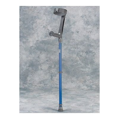Forearm Crutch - 1 Pair Adult Full Cuff - Epoxy-coated adult forearm crutches with 4'' (10 cm.) diameter full cuff featuring a V-shaped front opening for quick release. Height adjustable grip to floor from 29'' to 39'' (74 cm. to 99 cm.). Cuff is fixed at 8  by King Of Canes