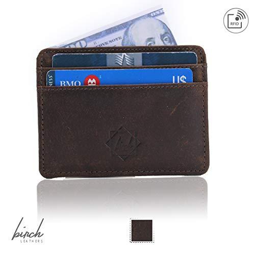 Slim wallet rfid front pocket minimalist rfid blocking dual side