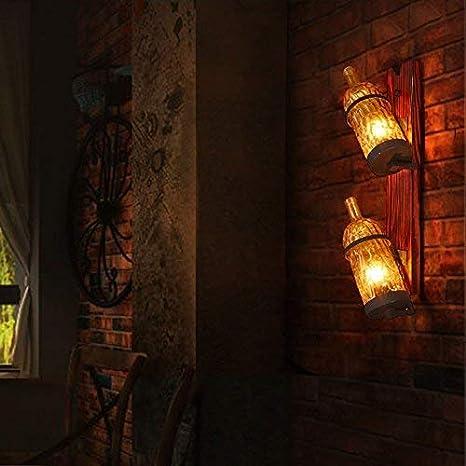ZHYZN Lámpara de Pared Retro con Tubo de Metal, lámpara de Pared con Vientos industriales Lámpara de Pared Original de Metal Metal Hotel Select