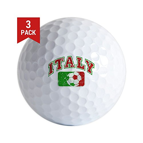 Golf Balls (Set of 3) Italy Soccer Grunge Italian Flag by Royal Lion