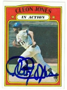 Cleon Jones Autographed Baseball (Autograph Warehouse 77922 Cleon Jones Autographed Baseball Card New York Mets 1972 Topps No .32 In Action 67)