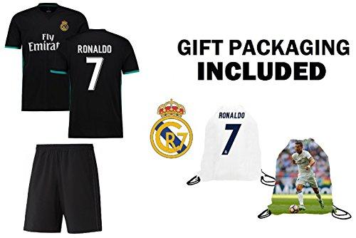 f62a8341936 Fan Kitbag Ronaldo  7 Real Madrid Away Short Sleeve Youth Soccer Jersey    Shorts Kids