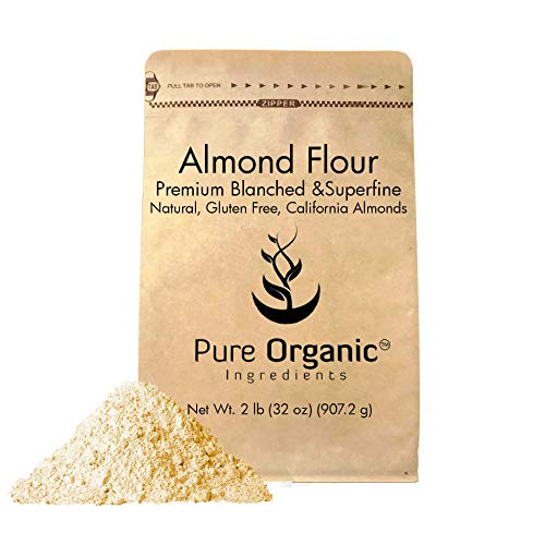 Almond Flour (2 lb.) by Pure Organic Ingredients, Paleo and Keto Friendly, Gluten Free, Vegan, Product of California, Blanched and Superfine