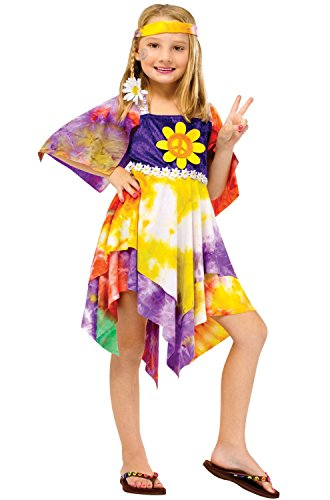 Daisy Hippie Costume - Large (Hippie Dress Up)
