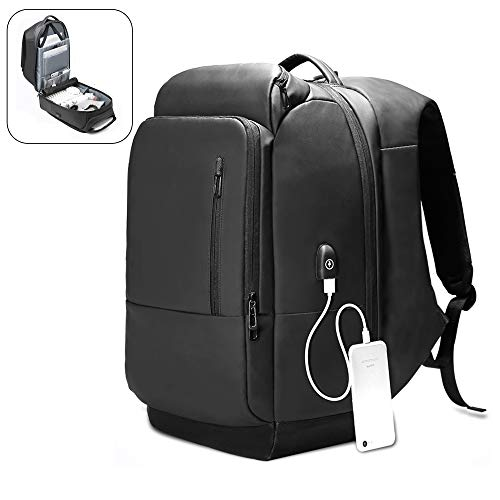 Luggage Backpack Suitcase Style Backpack for Men Woman Laptop Computer Travelling Accessories Business Work College Bookbag with USB Anti Theft Carry On Travel Backpack for International Travel(Black)