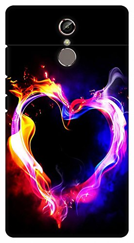 Crazy Beta Love N Fire Design Printed Back Cover For Amazon In