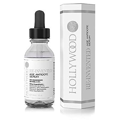 Serum Retinol 2.5% -4 veces más FUERTE que tratamientos antiedad y para acné regulares. Con 11% de Ácido Hialurónico y 20% de Vitamina C, mayor concentración. 30ml