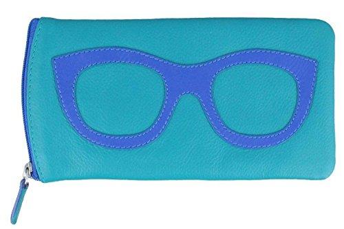 Ili 6462 Leather Eyeglass Case (Black/ Gold)