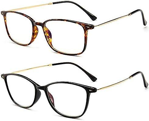 8eb605b7859 Amazon.com  REAVEE Ultra Slim Reading Glasses Blue Light Blocking  Lightweight Readers Memory TR90 Computer Glasses for Men Women 2.5  Strength  Health ...