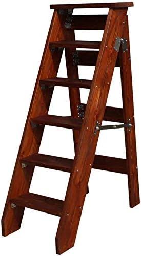 SED Escaleras de tijera multipropósito La escalera plegable de 6 peldaños puede hacer soporte de flores Escalera unilateral Madera Al cojinete de escalera de peldaños pesados Escalera antideslizant: Amazon.es: Bricolaje y herramientas